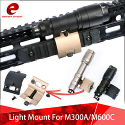 Element Airsoft Tactical Flashlight Mount For M300A M600C Scout Light Metal BK $18.99