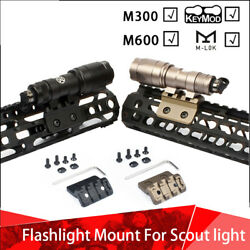 Tactical Flashlight Mount with 20mm Rail For M300 M600 Scout Light M LOK Keymod $16.05