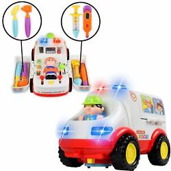 WolVol Educational Ambulance Activity Toy with Medical Equipment