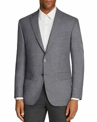 Jack Victor Mens Conway Micro Houndstooth Super 100#x27;s Wool Sportcoat 38R Grey $175.00