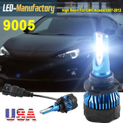 9005 CSP 8000LM LED Headlight Bulbs Kit 6000K High Beam for GMC Acadia 2007-2012