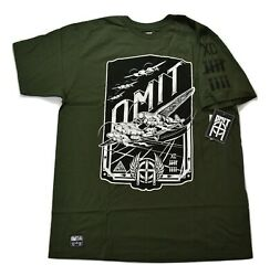 Omit Mens Steam Bombers Olive Tee Shirt New L $3.00