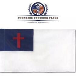 Founding Father's Christian Home Banner 3x5 $8.70