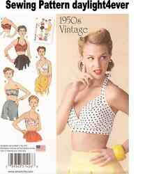 Women Retro Vintage 1950's Bra Top Halter Sewing Pattern 1426  Size 14-22 New #r