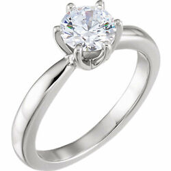 Round Diamond Ring 14K White Gold (1.23 Ct G Vs2(Enhanced) Clarity) Igl