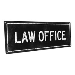 Black Law Office Metal Sign; Wall Decor for Metal Sign; Wall Decor for Home an $24.99