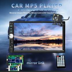 7'' Inch 2Din Touch Screen Car MP5 Player Bluetooth Stereo Radio HD Rear Camera $41.99