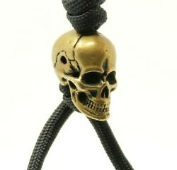 EDC Skull Solid Brass Knife Paracord Military 5.5mm Bead