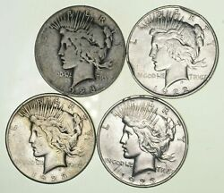 Bulk Lot CULL (4) 1922-1925 Peace Silver Dollar 90% Eagle Collection 15 Roll