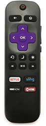HITACHI 101018E0001 Roku TV Remote w TV Power Button and Volume Control $8.50
