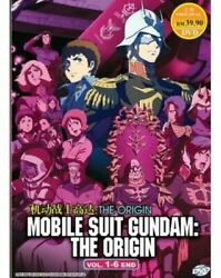 Mobile Suit Gundam: The Origin DVD (Vol.1-6 end) with English Dubbed