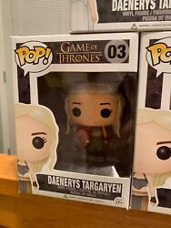 FUNKO POP GAME OF THRONES DAENERYS GOLD RED DRAGON & Wedding Lot Of 3 Excl