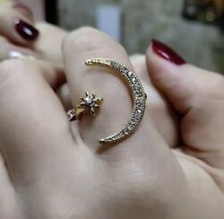 Womens Fashion Ring Moon amp; Star Design Resizeable Rings ✨✨✨ $5.00