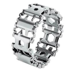 29 in1 Multi-Tool Stainless Steel Bracelet for Outdoor Camping Hiking Travel