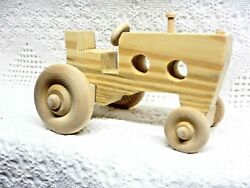 Wooden Toy Large Tractor (Wide Front)(Unfinished)
