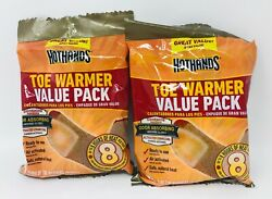 7 Pairs HotHands Toe Warmers Value Pack! Lot of 2 Packs-TOTAL-14 Pairs FRSHIP  $15.98
