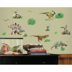 Dinosaurs RoomMates Vinyl Wall Bedroom 25 Removable Decal Stickers $12.49