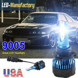9005 HB3 H10 72W 8000LM LED Headlight Kit High Low Beam Bulbs Super Bright 6000K