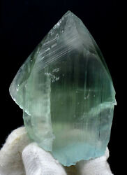 135 Gram Terminated Natural Green Kunzite Crystal with Facet Grade Clarity $795.00