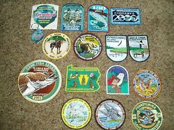 Nice lot PA Pennsylvania Fish + Game Commission Decal and Keychain Patches