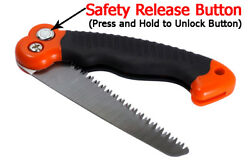 10.5-Inch Folding Mini Camping/Pruning Saw, Tripe Teeth Saw Blade Survival Fire $8.99