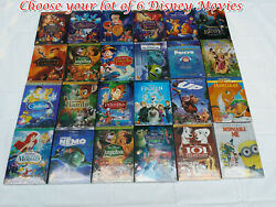 Pick Lot of 6 Disney DVDs:AladdinSnow WhiteSleeping BeautyLion King UP.....