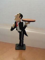 Painted Wooden Butler holding Tray  by Brooke Tucker
