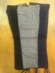 3 PAIR MADE IN USA BDU - TACTICAL - CARGO - MILITARY - PUBLIC SAFTEY TYPE PANTS