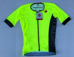 Castelli Free Speed Race Tri Jersey - Men's Yellow FluoAnthracite - X-Large