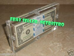 Acrylic BEP 100 Pack Money Currency Holder Dollar Bank Frame Note Display Case $26.95