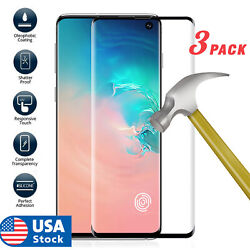 3pcsFor Samsung Galaxy S10 Plus S10e Cover Tempered Glass Screen Protector Film $6.99