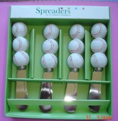 Supreme Baseball Cheese Knife Spreader Set of 4