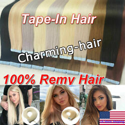 Tape in Remy Human Hair Extensions Skin Weft Glue in Brazilian Hair 2040pcs 10A