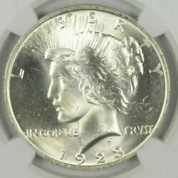1 1923 Peace Silver Dollar Uncirculated BU Condition From roll $46.95