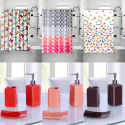 1PC PRINTED BATHROOM BATH SHOWER CURTAIN WITH HOOKS NEW DESIGNS 72quot;X72quot; $10.00