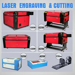 40W 50W 60 80W 100W 130W CO2 Laser Engraving Machine Cnc Rotary Axis Engraver US $423.99