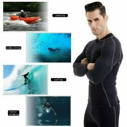 Men Long Sleeved Neoprene Dive Fullsuit Wetsuit Jumpsuit Beach Sun-proof Jacket