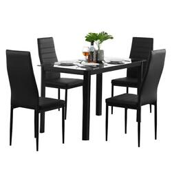 Popular Different Style 5 Piece Dining Table Settables Glass Metal Furniture US $98.89