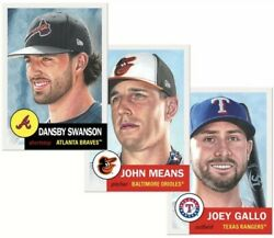 2019 Topps Living Set #220 Dansby Swanson #221 John Means #222 Joey Gallo SP
