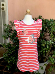 NWT Gymboree Girls 4T Summer Beach Dress Cover Up Stripes Tropical Fish Jersey