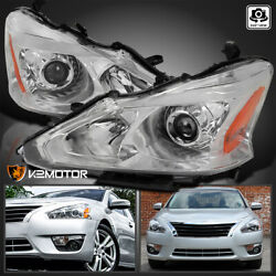 For 2013 2015 Nissan Altima Sedan Clear Lens Projector Headlights Pair Lamps $166.38