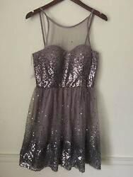 Holiday sale Beige Tan Party JUNIORS Dress. Size 11 12. NWT. Retail $109 $28.99