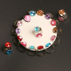 10Pcs Kids Ring Princess Jewelry Toys Colorful Rings Gifts Birthday Party Favor