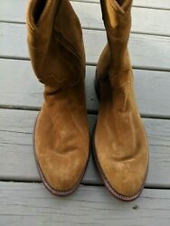 Tecovas The Shane Honey Suede Mens Boots Size 9.5EE