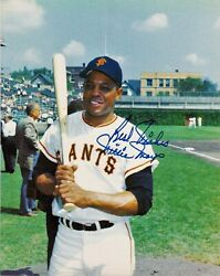 BEAUTIFUL VINTAGE AUTOGRAPH WILLIE MAYS 8X10 SIGNED BEST WISHES COLOR PHOTO 660