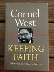 Cornel West Signed & Inscribed Keeping Faith: Philosophy & Race In America 1993