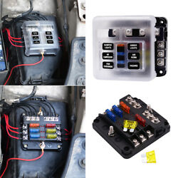 6 Way Auto Blade Fuse Holder Box Block with LED Indicator for 12V 24V Car Marine $13.68
