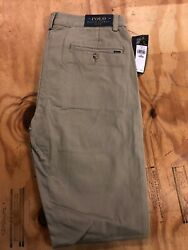 Polo Ralph Lauren Slim Fit Valley Tan Pants For Men Size 32x34 New With Tags