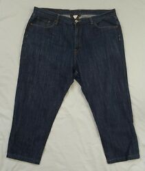 Lucky brand womens jeans size 40 venice bootleg dark wash cotton short cropped I