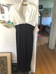 NWT Vtg 80s 90s Does 40s HOLLY SHARP Dress TROPHY High Waist PALAZZO JUMPSUIT M